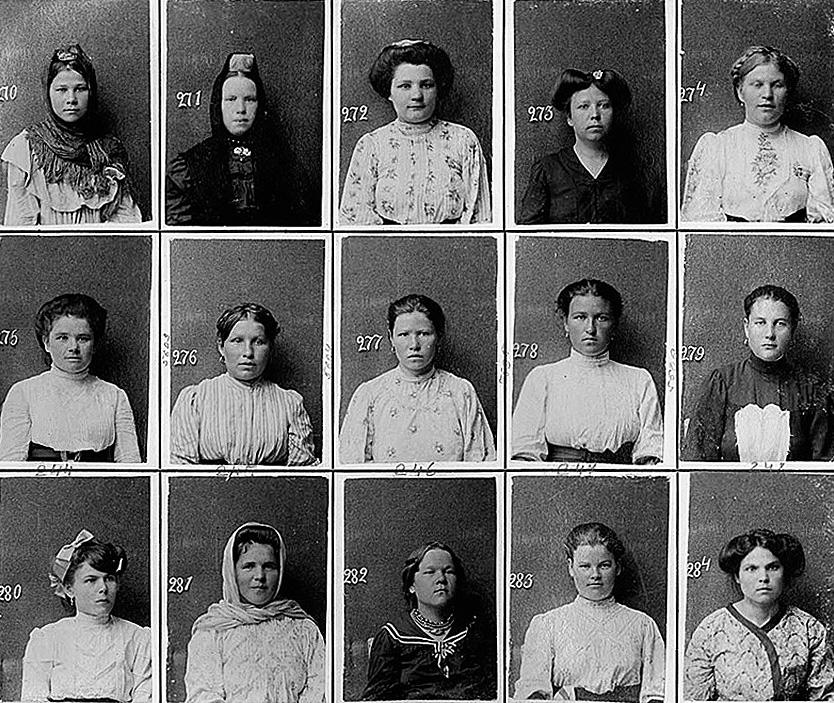 Femmes enregistrées comme prostituées. Crédit : Images d'archives