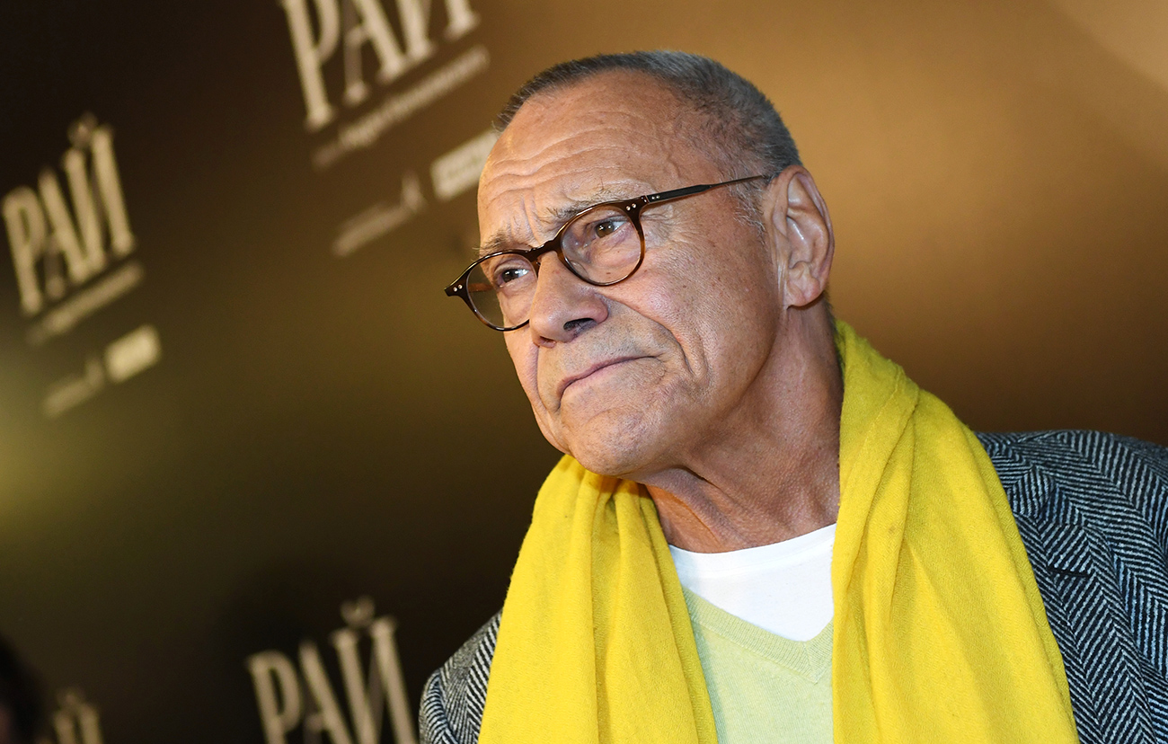 Director Andrei Konchalovsky at the premiere of his film 'Paradise' in Moscow.