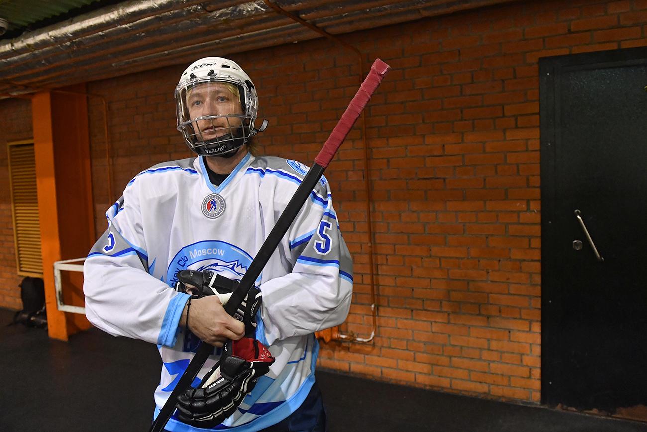 エフゲニー・プルシェンコが、「ナイト・ホッケー・リーグ(NHL)」の試合で2ゴールを決めた。=