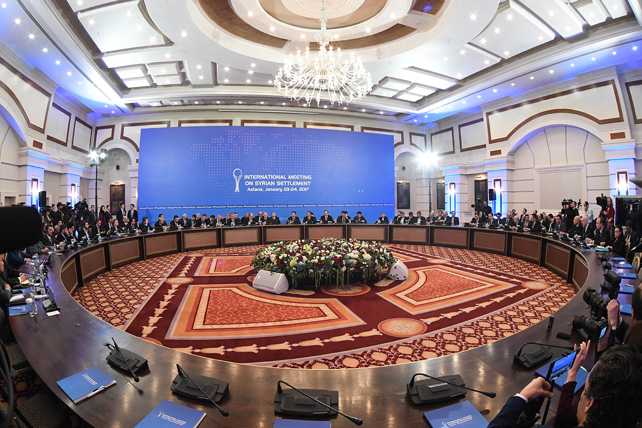 Syrian negotiations in Astana. It's the first time the rebels' representative and government delegation sit face to face in an international arena with the hope of hammering out the first step of a solution to the country's long-lasting conflict.