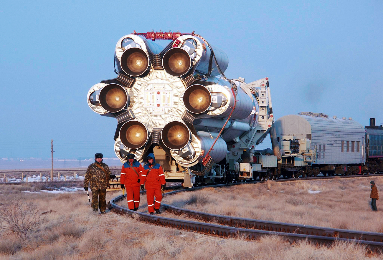 Roscosmos State Corporation has pulled all Proton-M vehicles from the launch schedule, and sent the engines back to the manufacturer for additional checks. Photo: Carrier vehicle Proton-M on the cosmodrome's launch complex. Baikonur, Kazakhstan.