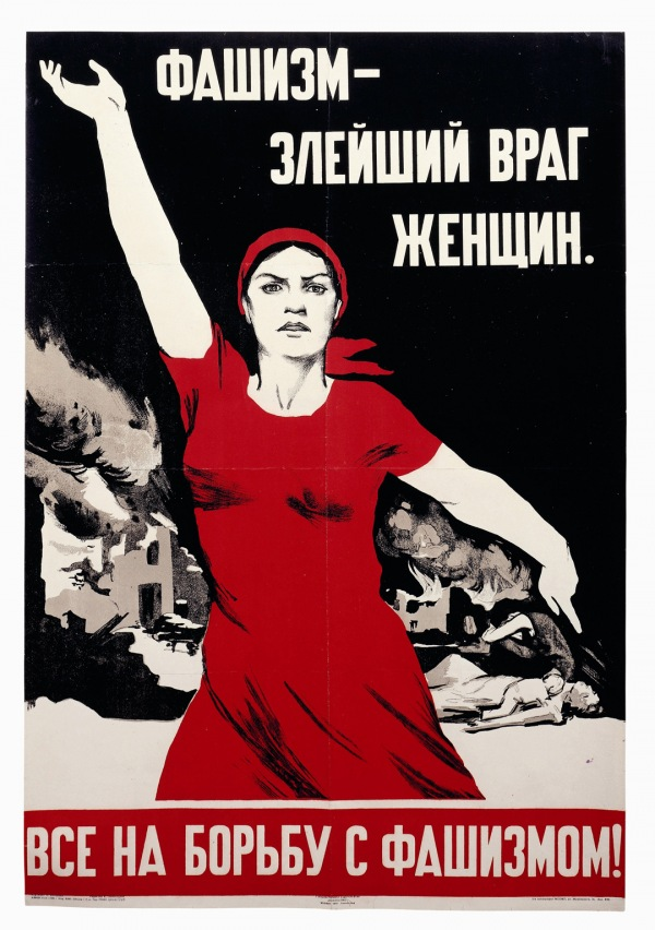 Nina Vatolina Fascism – The most evil enemy of women;1941 Tate / Image courtesy the David King Collection.