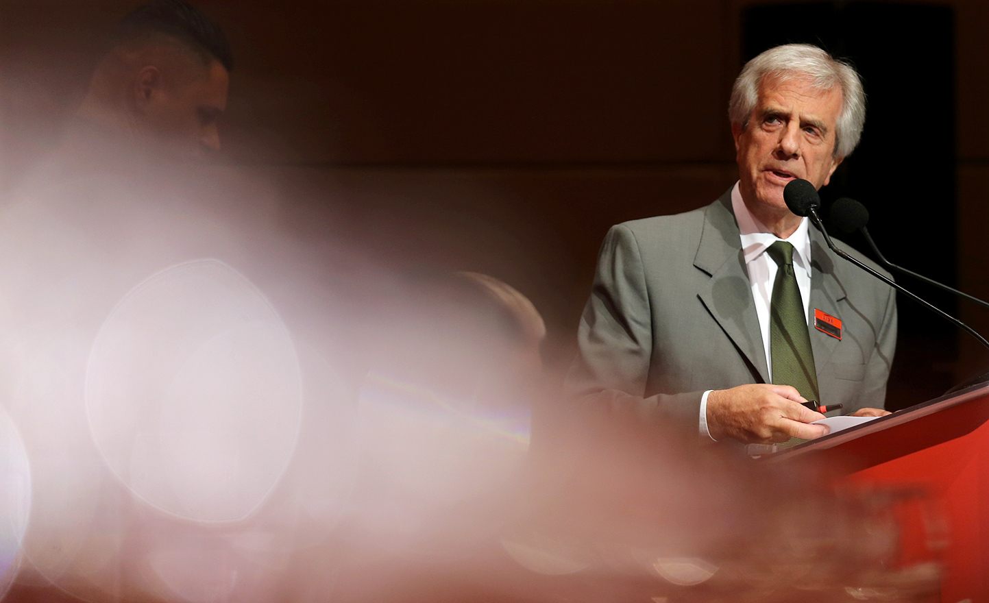 Vazquez em palestra a empresários paulistanos, em 2016