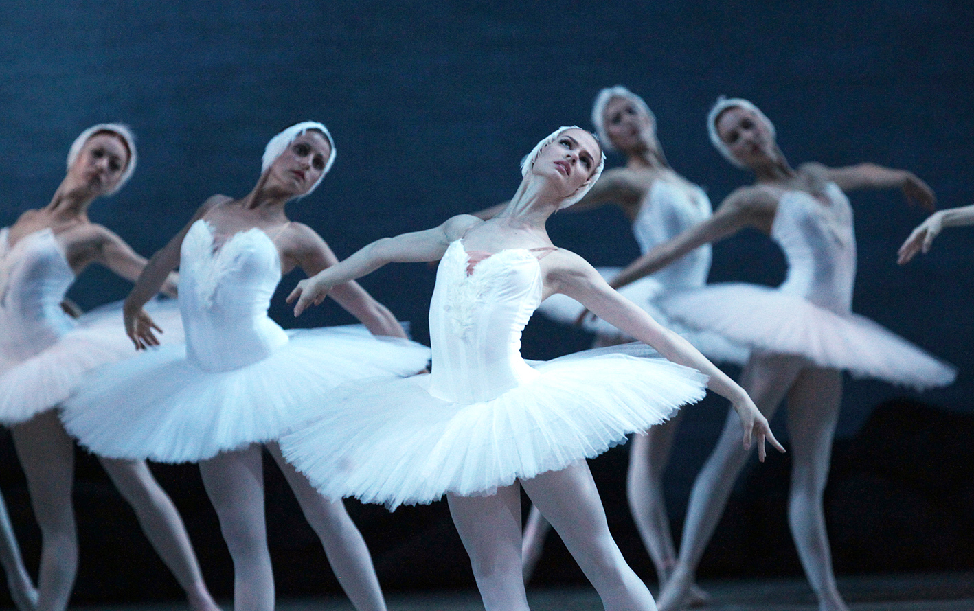 A rehearsal of the Swan Lake ballet's 3D broadcast at the Mariinsky Theater in St. Petersburg.
