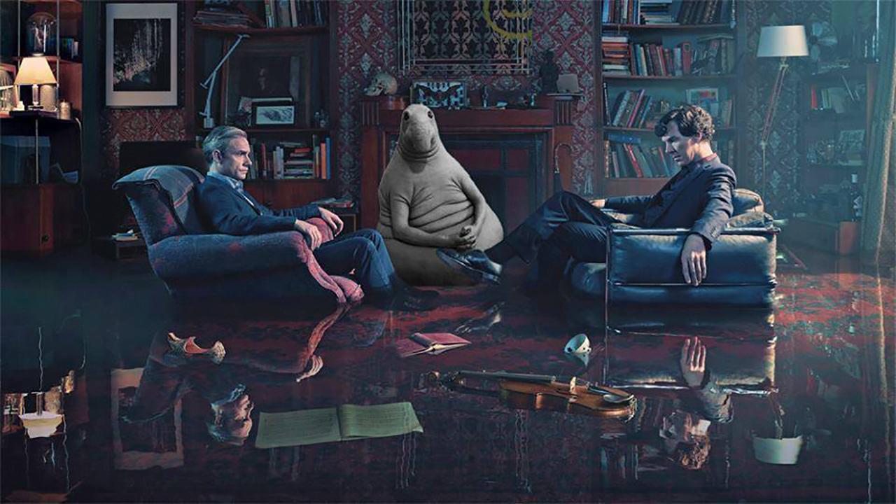Zhdun en una escena de la serie 'Sherlock'.