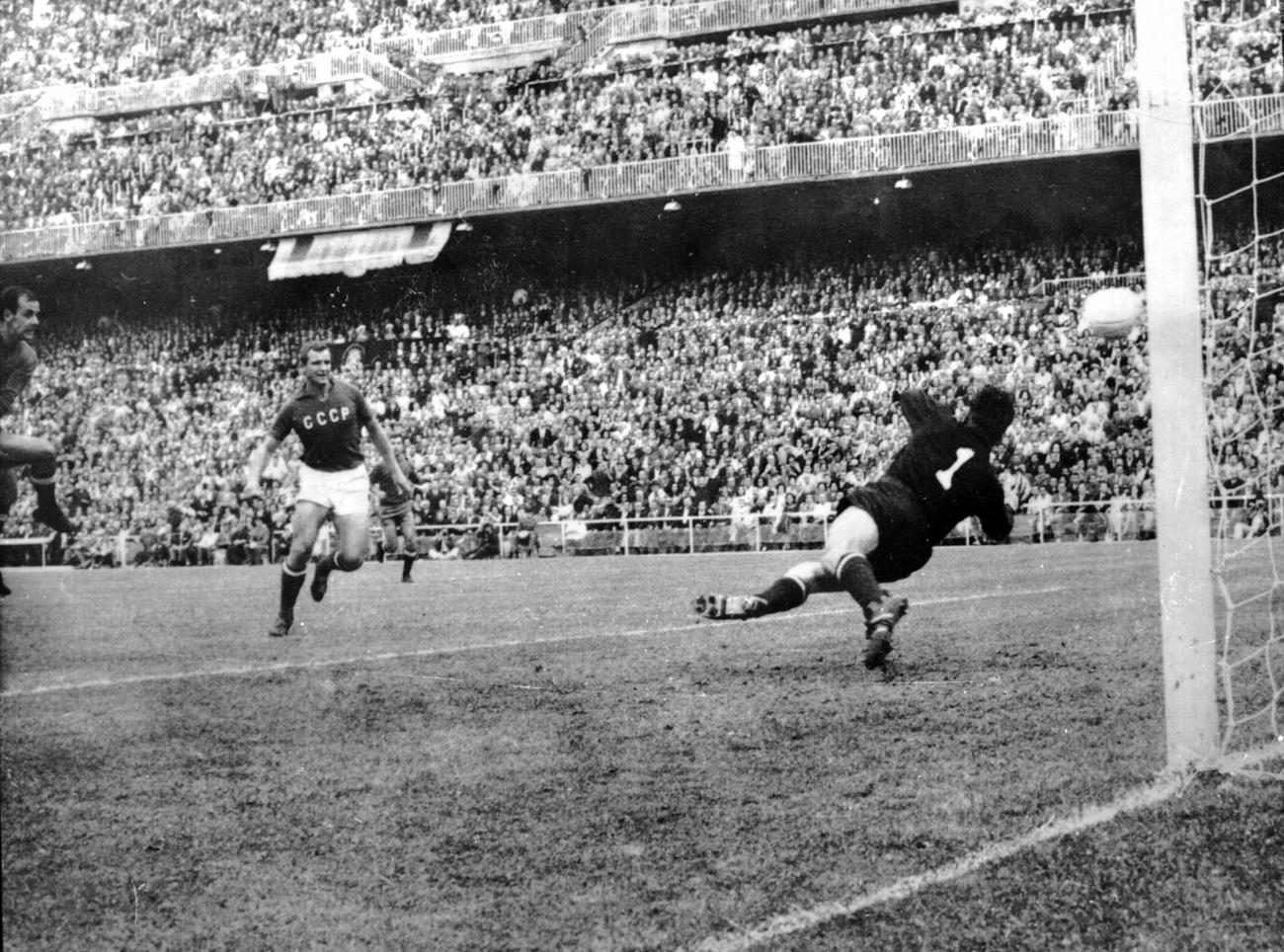 La final de la Copa Europea de Naciones en Madrid, el 17 de junio de 1964.