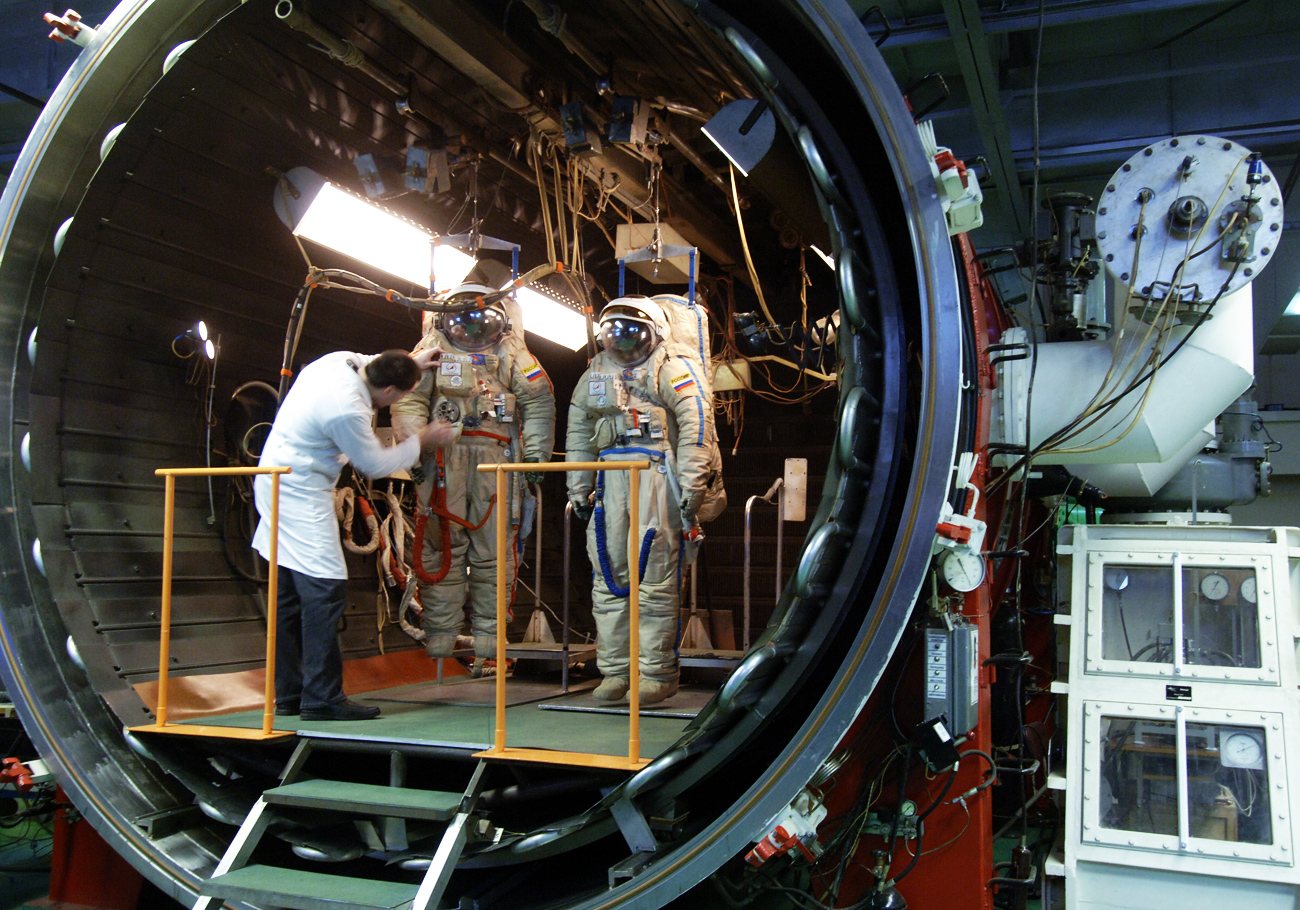 TBK-50 (thermal environment simulation chamber with a capacity of 50 cubic meters) used at the Zvezda research-and-production enterprise for training cosmonauts and astronauts and testing space suits.