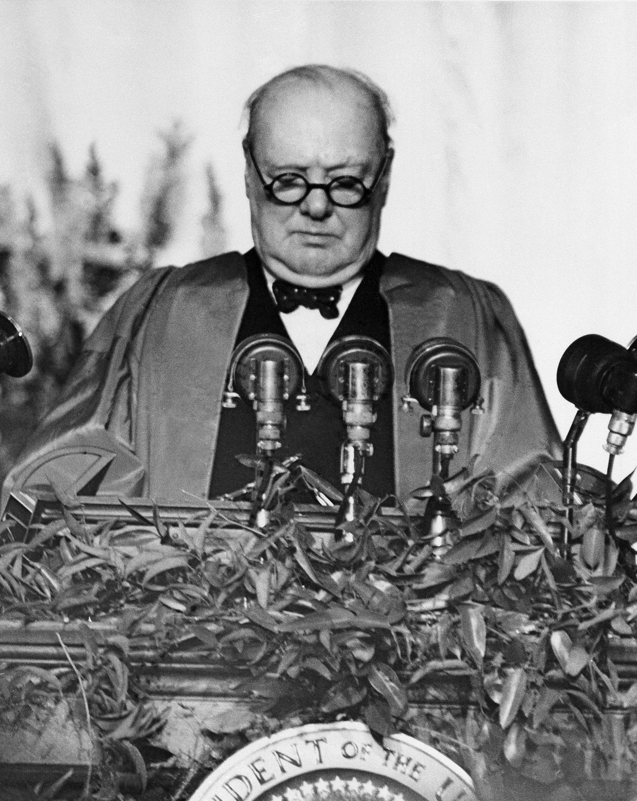 The Cold War was finally triggered by Winston Churchill's March 1946 speech in Fulton. Source: AP