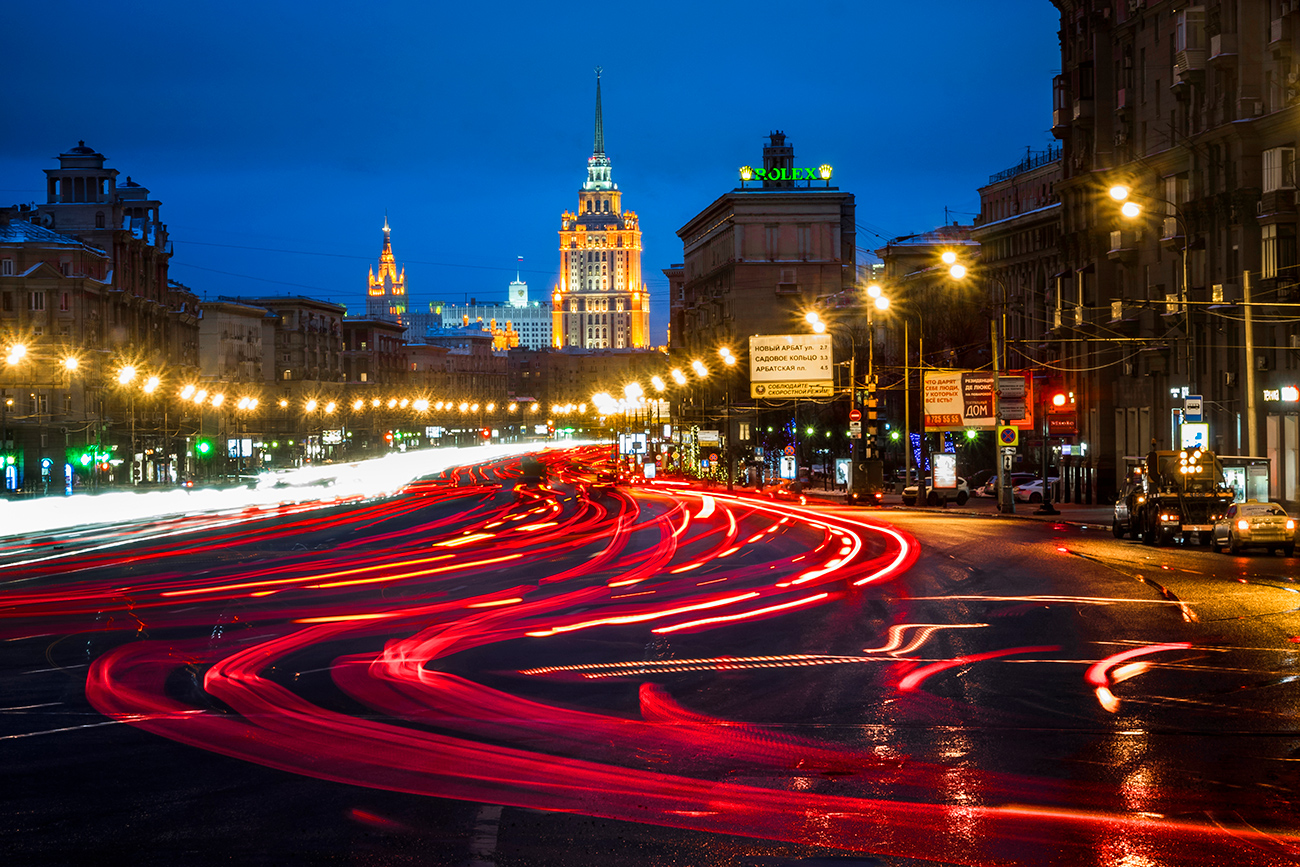 Russia, Moscow. Kutuzovsky Prospekt (Avenue).
