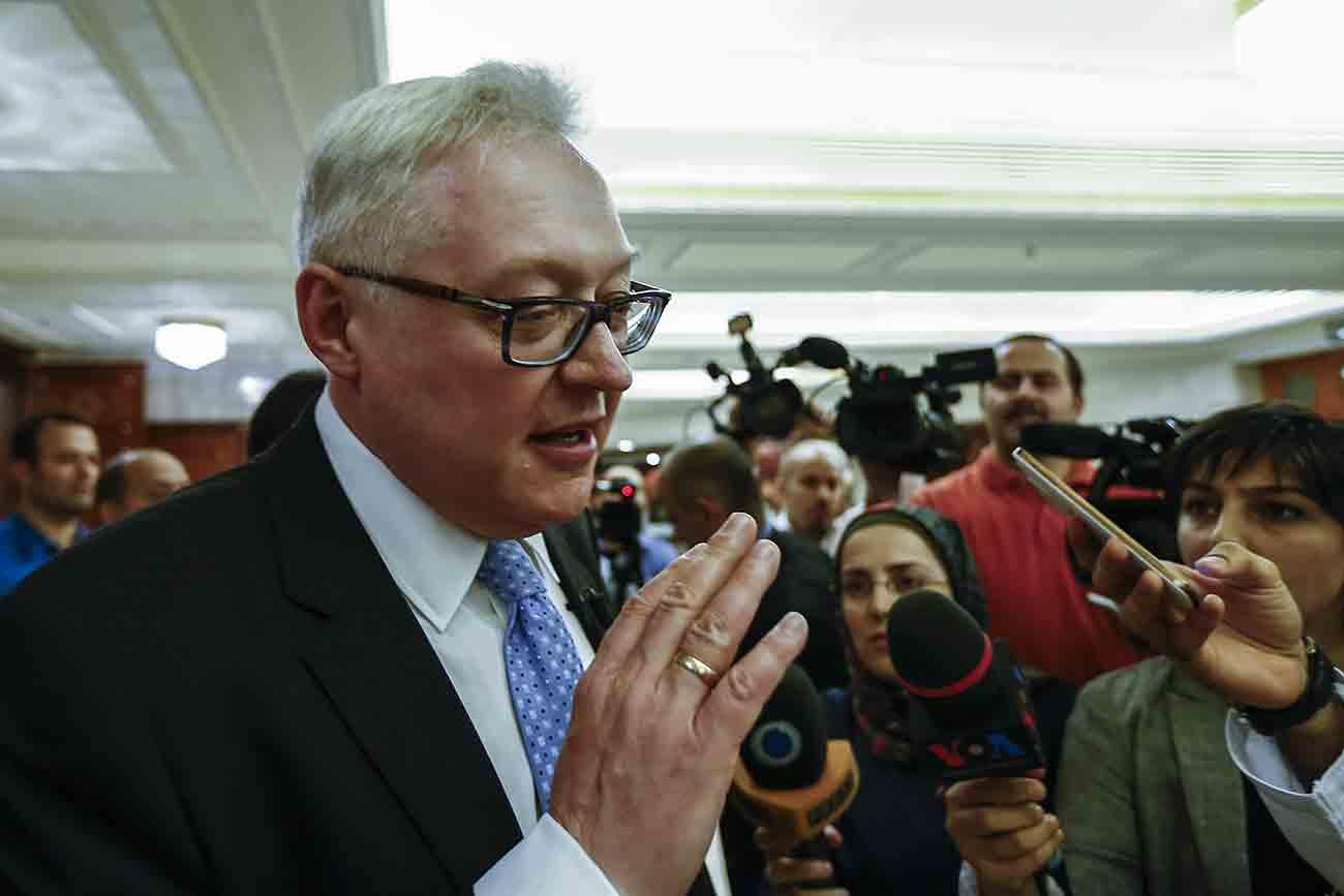 """Riabkov: """"O que ocorre é que temos que nos desarmar unilateralmente"""""""