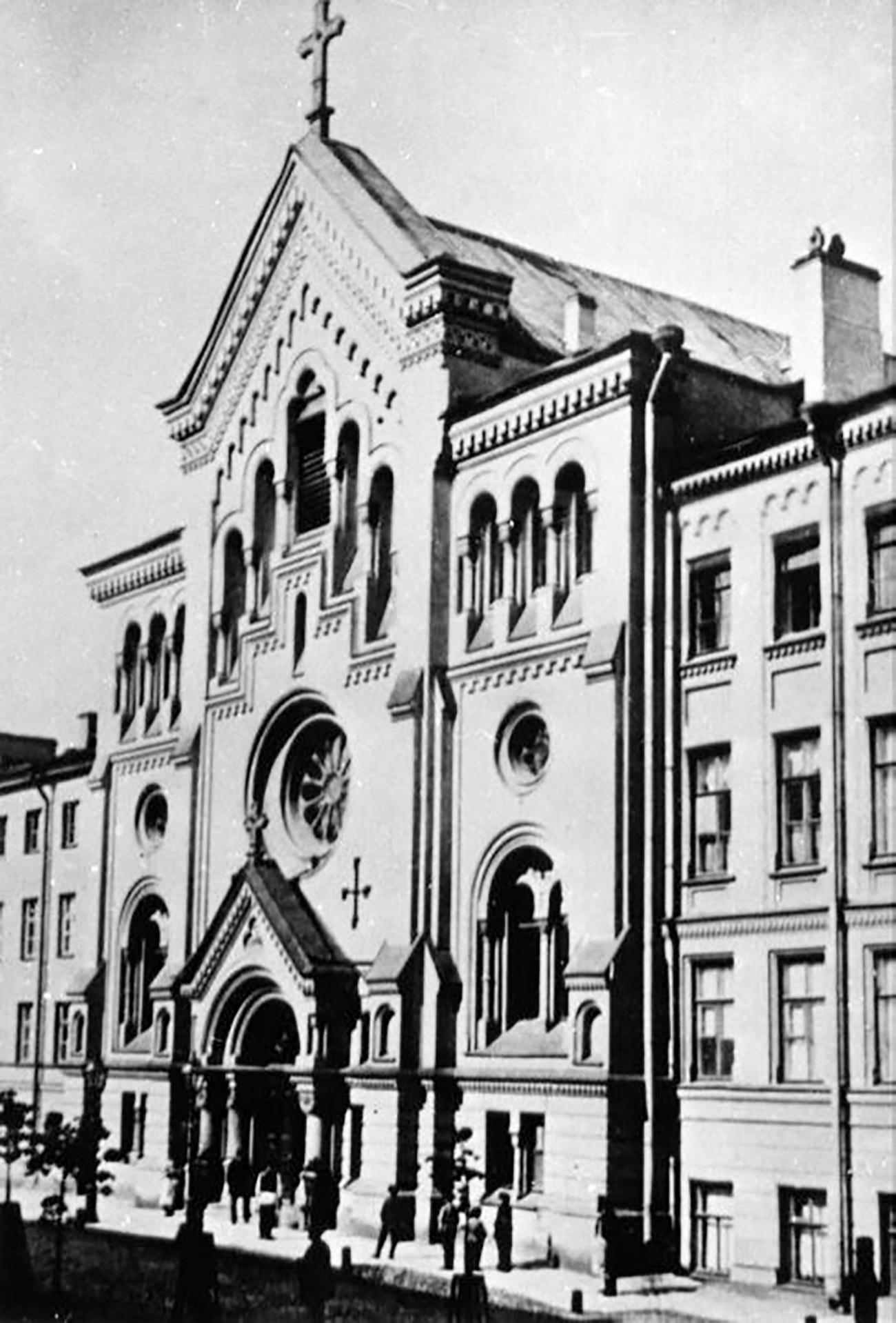 Die schwedische Kirche St. Katharina zu Beginn des 20. Jahrhunderts./ Archivfoto