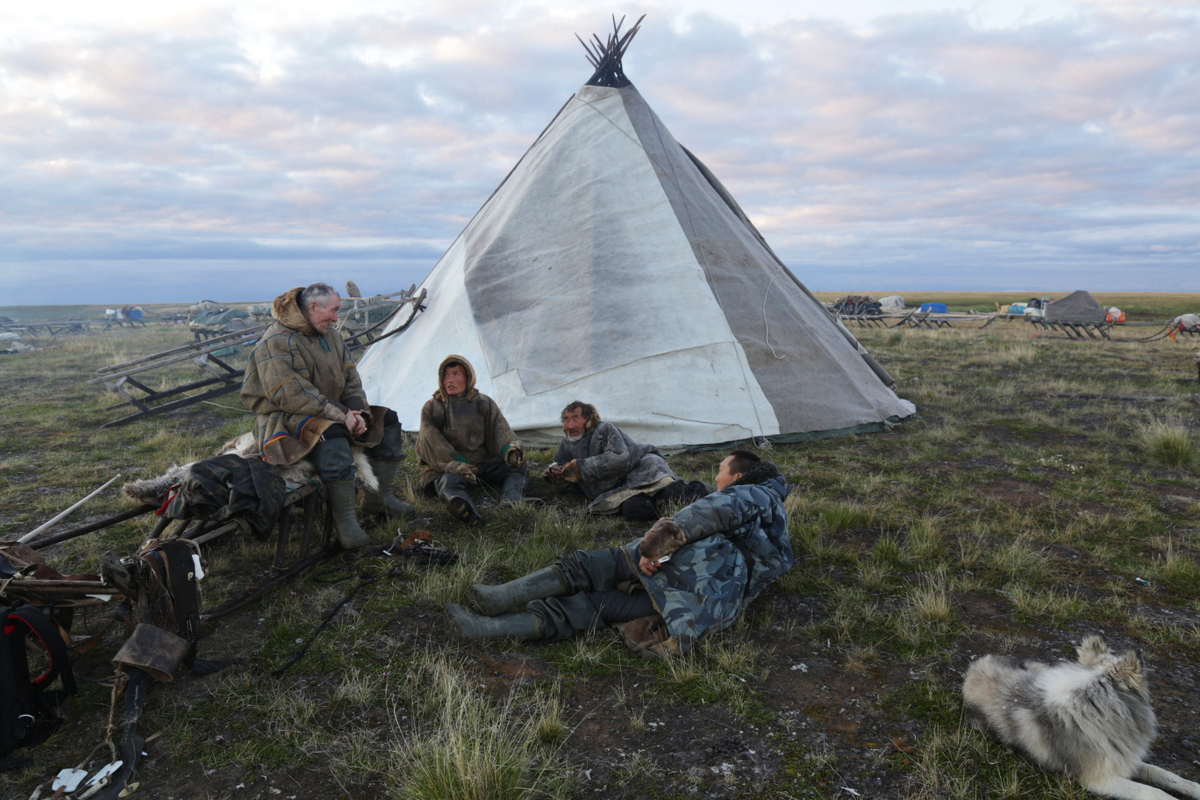 While the city slickers have trouble even putting up a two-tent, Siberian nomads can turn some animal skins into a portable and climate-controlled house