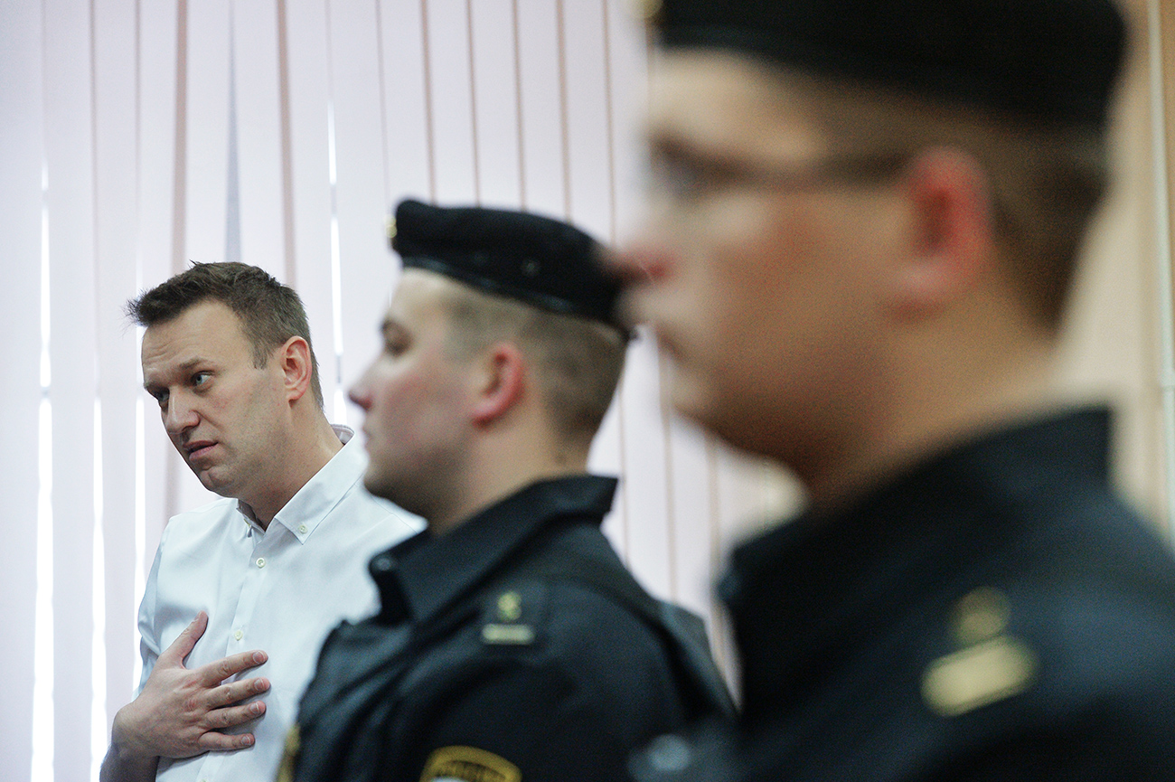A Russian court on Feb. 8 gave Alexey Navalny a five-year suspended sentence on charges of embezzlement.
