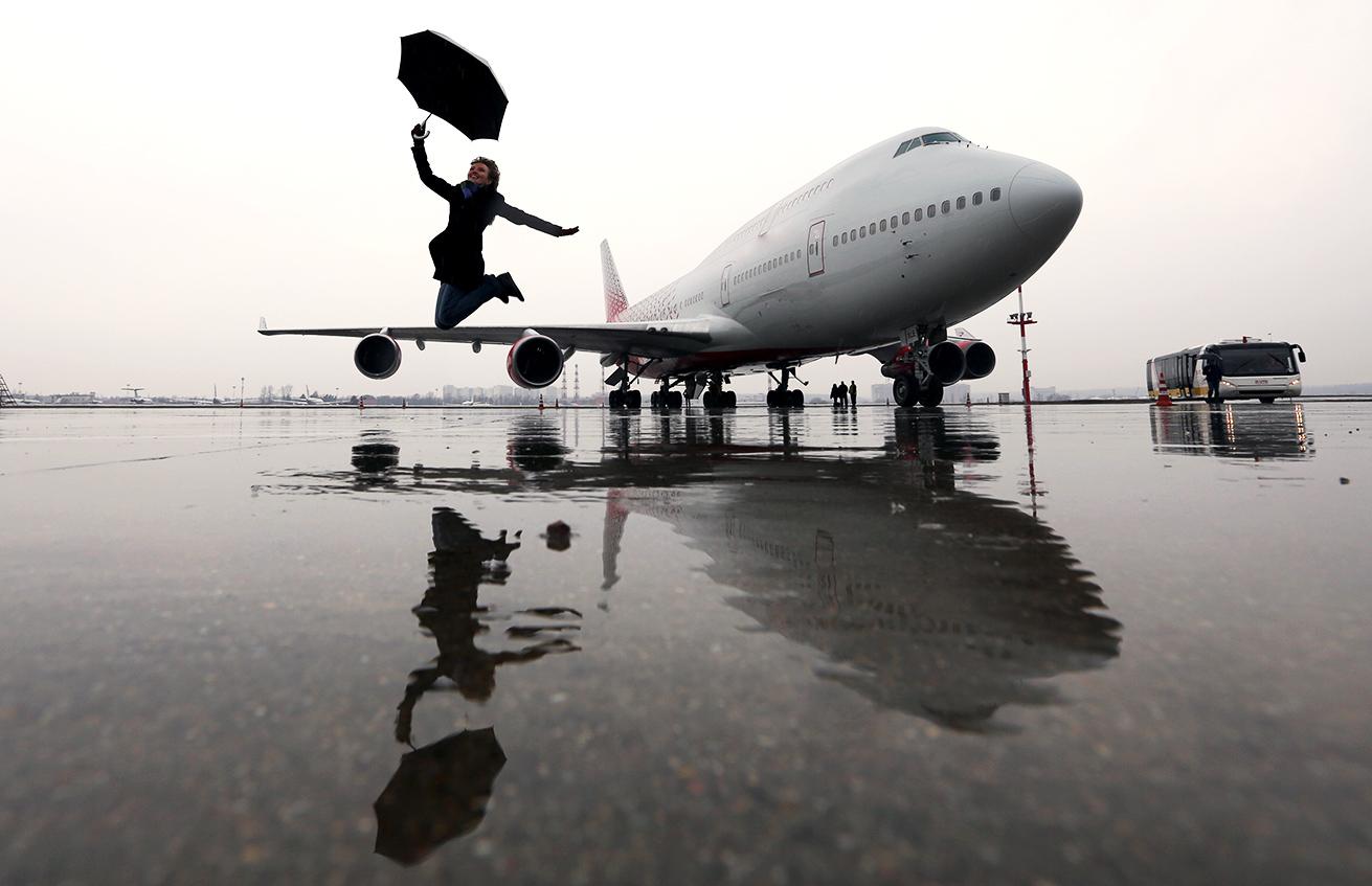 ボーイング747-400、ヴヌーコヴォ国際空港
