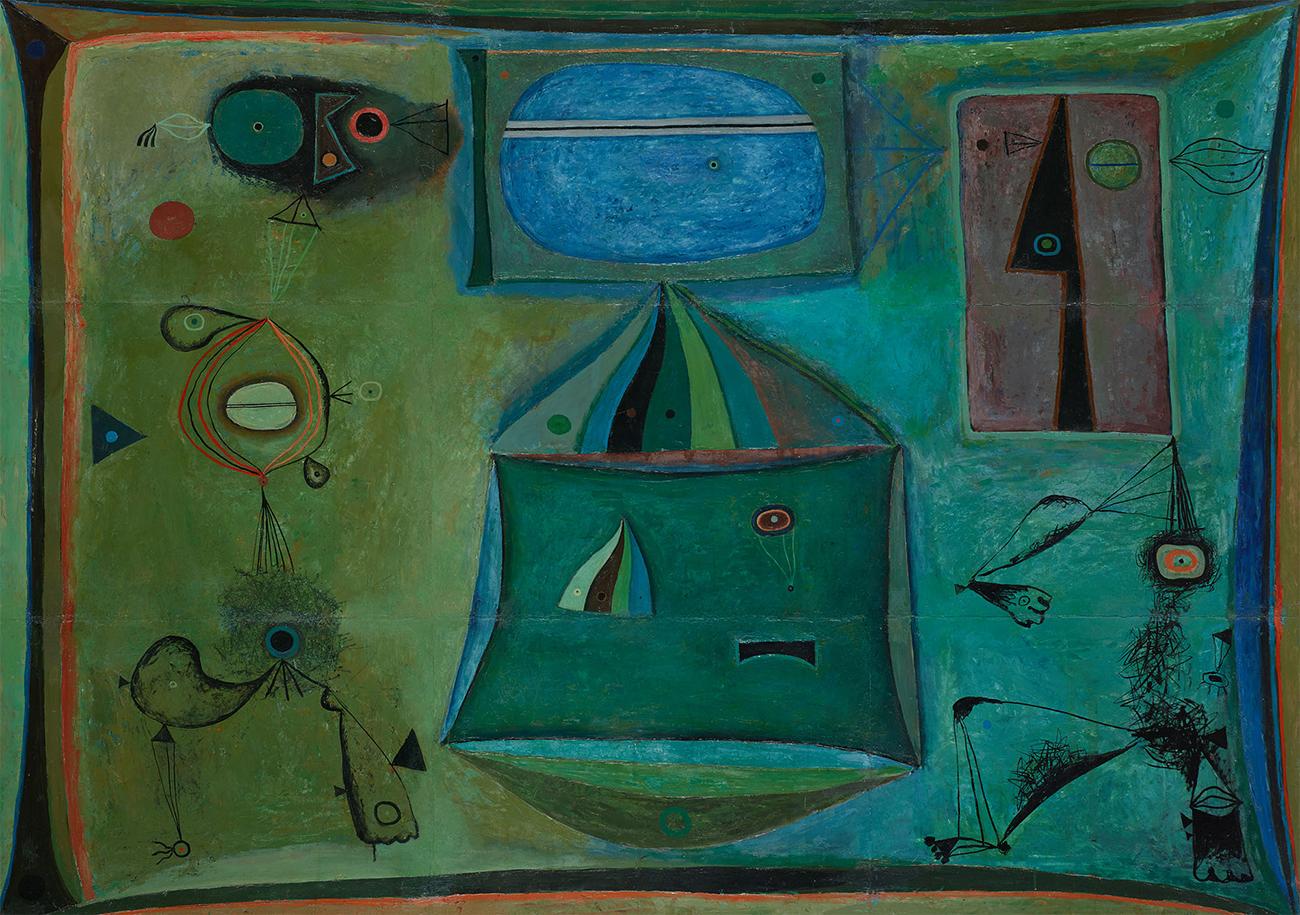 """Bis 11. Juni bleibt die Ausstellung geöffnet. // Vladimir Yankilevsky, """"Kompostion"""", 1961"""