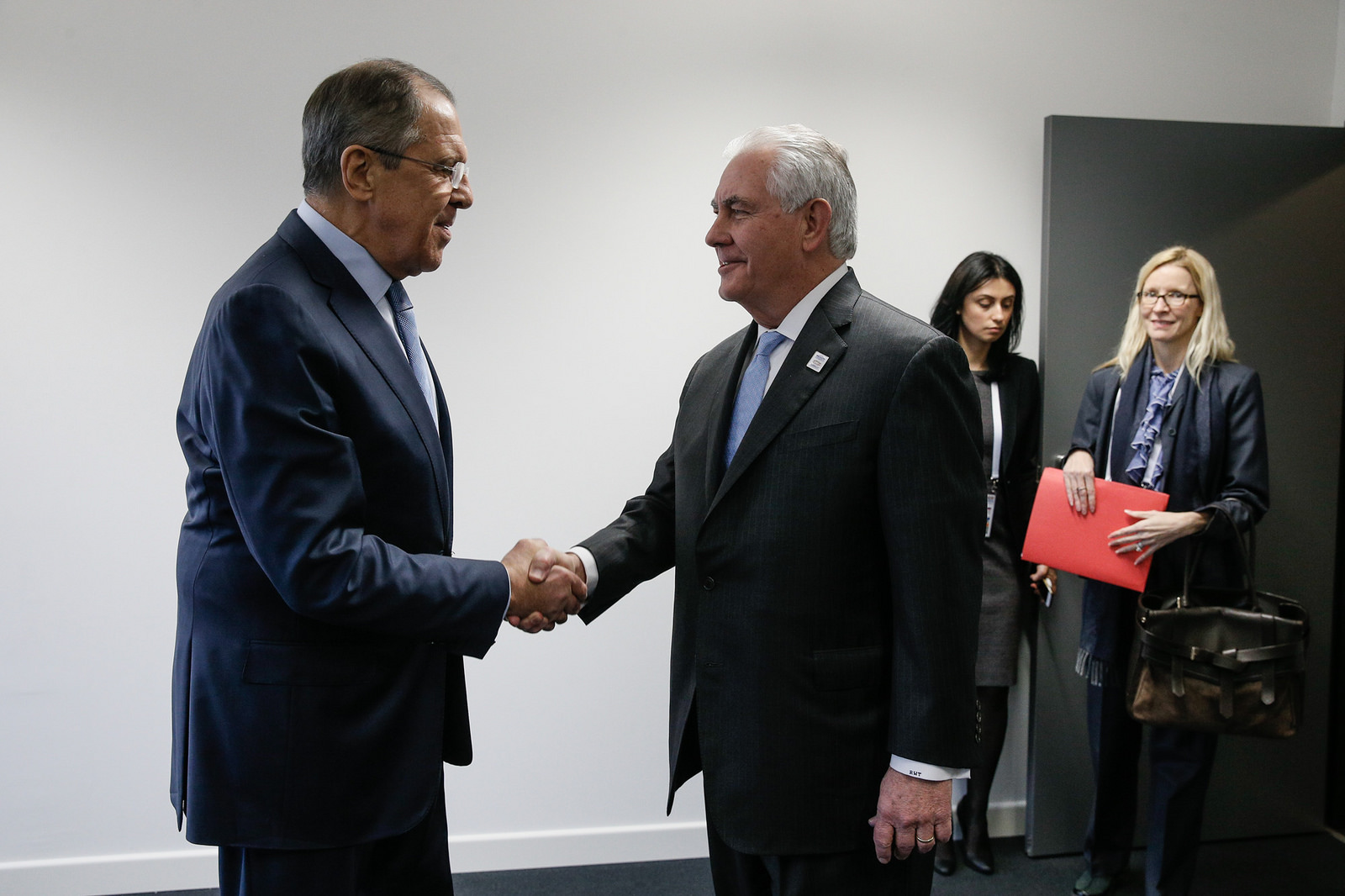 Russian Foreign Minister Sergey Lavrov met with U.S. Secretary of State Rex Tillerson, Bonn, February 16, 2017.