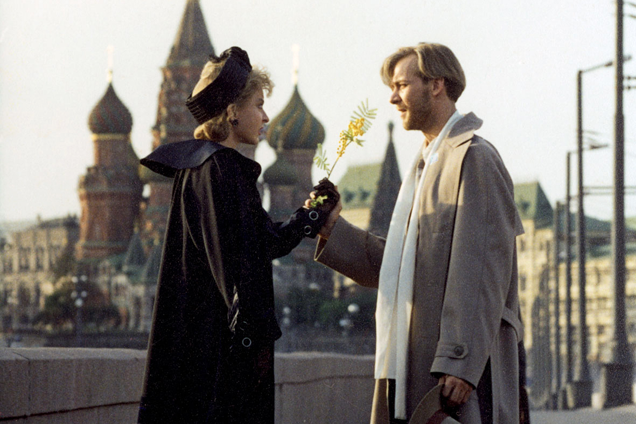 Anastasia Vertinskaya as Margarita and Viktor Rakov as The Master in the movie The Master and Margarita directed by Yury Kara.