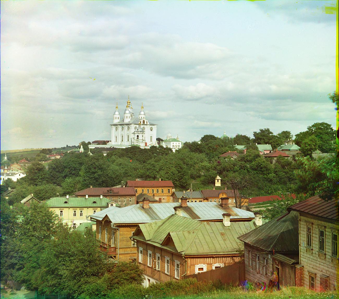 Dormition Cathedral, northwest view from Kazan Hill. Summer 1911. / Photo: Sergei Prokudin-Gorsky