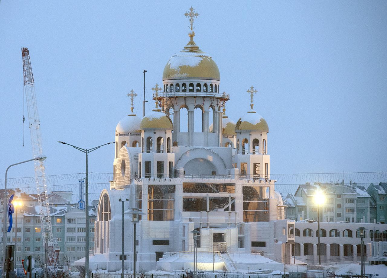 La Cattedrale della Trasfigurazione di Salekhard, 26 gennaio 2017\n