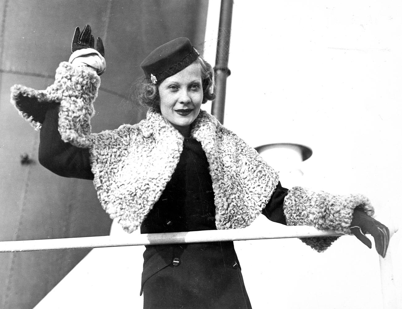 Nathalie Paley, le 19 décembre 1934.