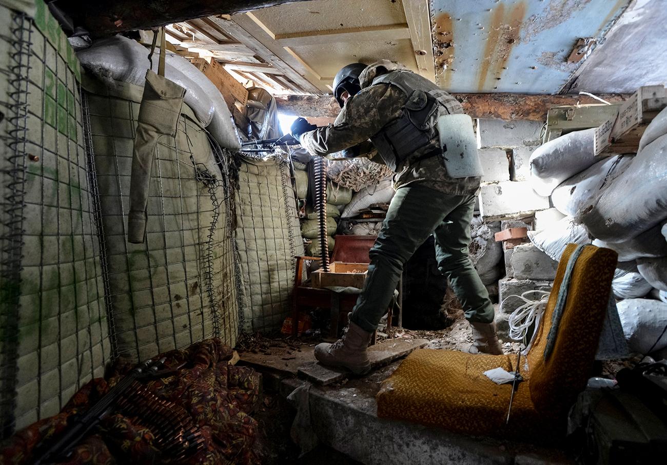 Gros plan sur un conflit qui préoccupe l'Europe et le monde depuis bientôt trois ans. Sur la photo : Un soldat ukrainien dans la ville d'Avdiïvka.