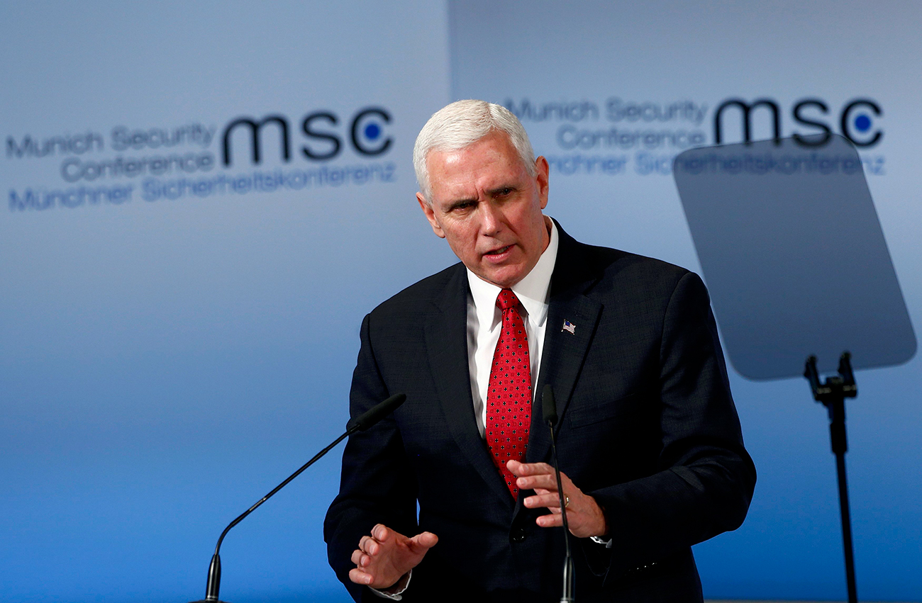 U.S. Vice President Mike Pence delivers his speech during the 53rd Munich Security Conference, Feb. 18, 2017 / Photo: Reuters