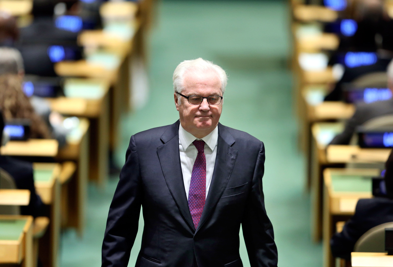 Vitaly Churkin died on Feb. 20.