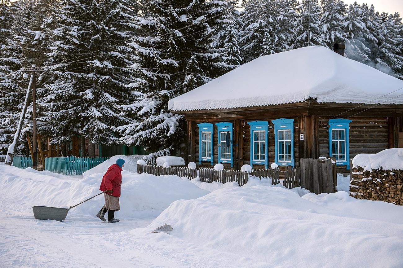 冬のオムスク市