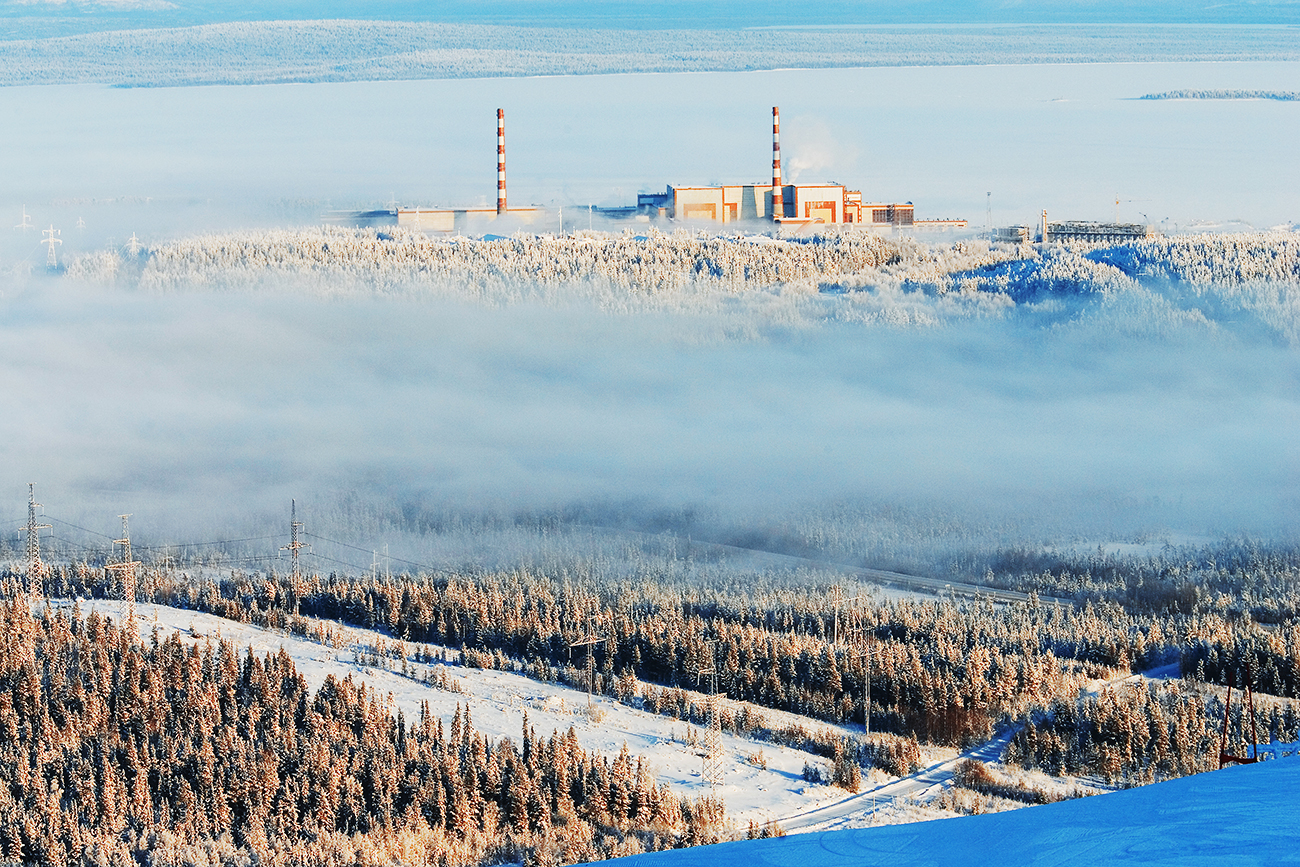 The Kola nuclear power plant, Polyarnye Zori.