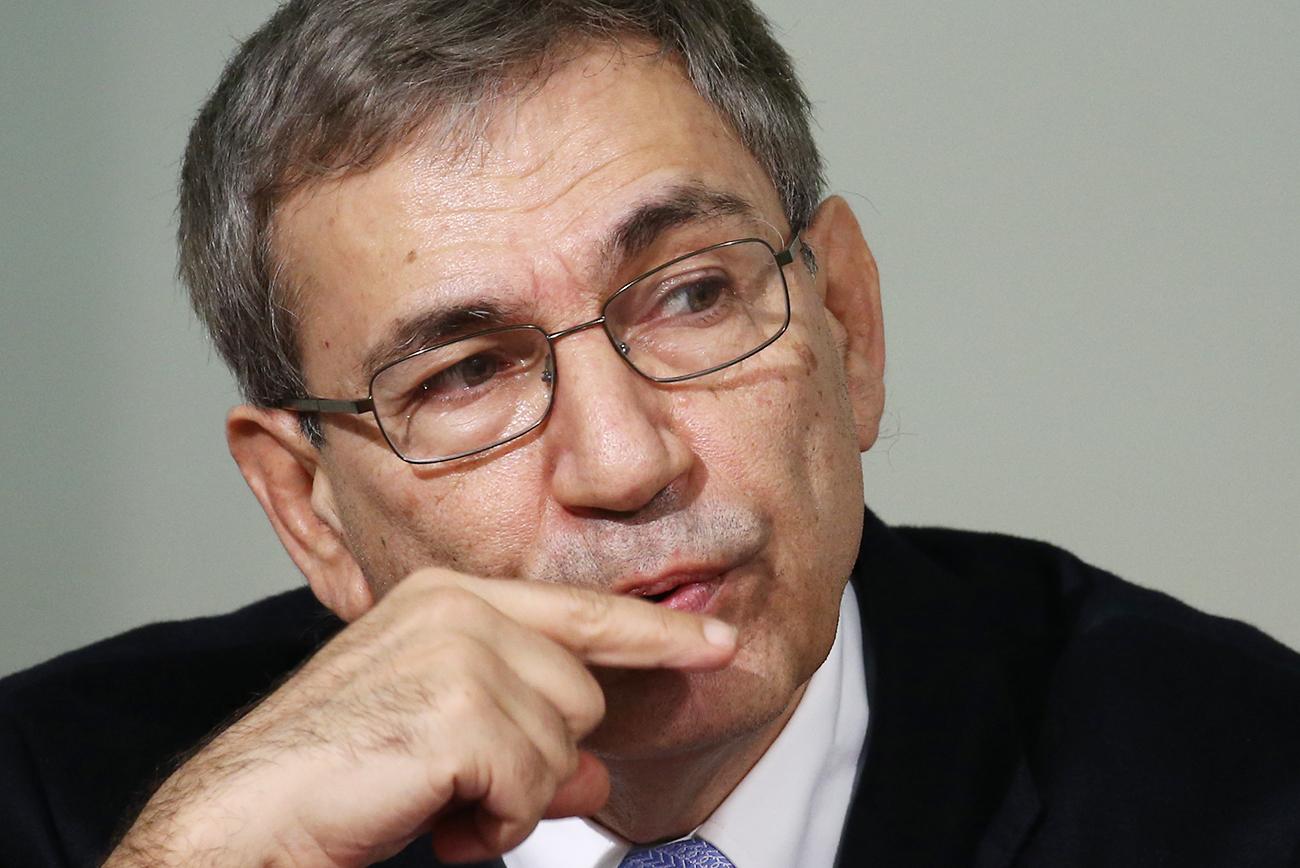 Turški pisatelj Orhan Pamuk. Vir: Peter Kovaljev/TASS