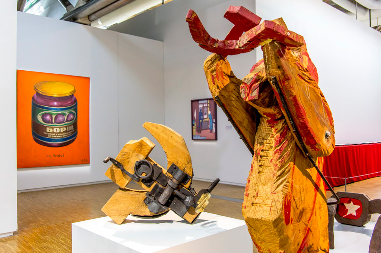Showpieces of theKollektsia! Contemporary art in the USSR and Russia,1950-2000exhibition.\n