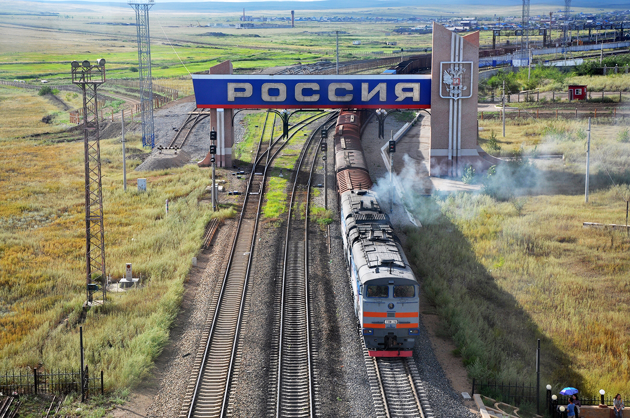Russian freight train from Russia to China.