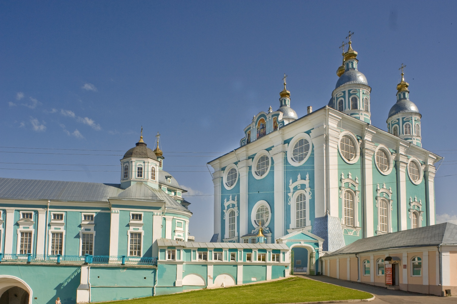 Dormition Cathedral, southwest view. July 1, 2014.