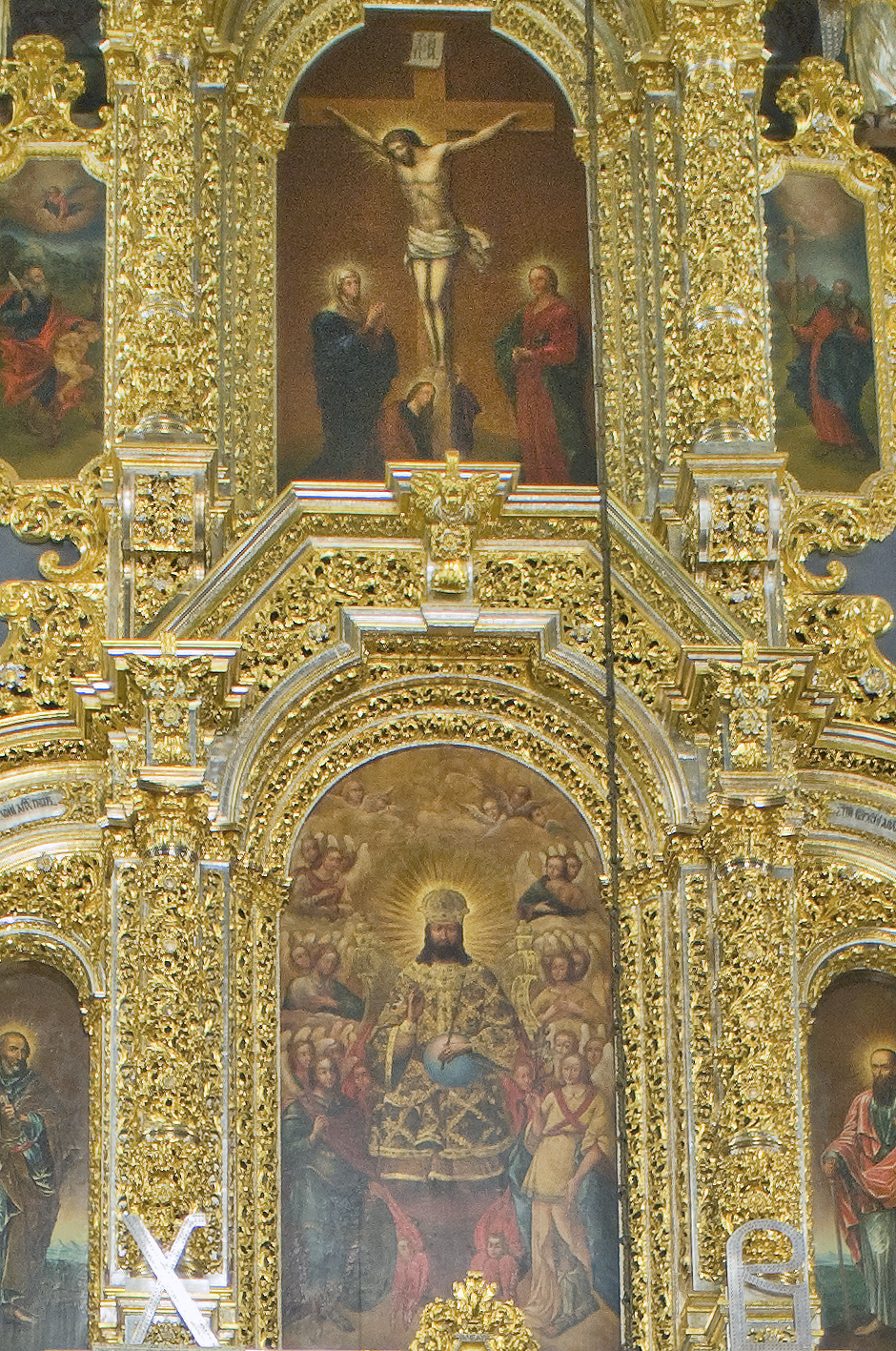 Dormition Cathedral, central icons of icon screen. July 1, 2014. / Photo: William Brumfield