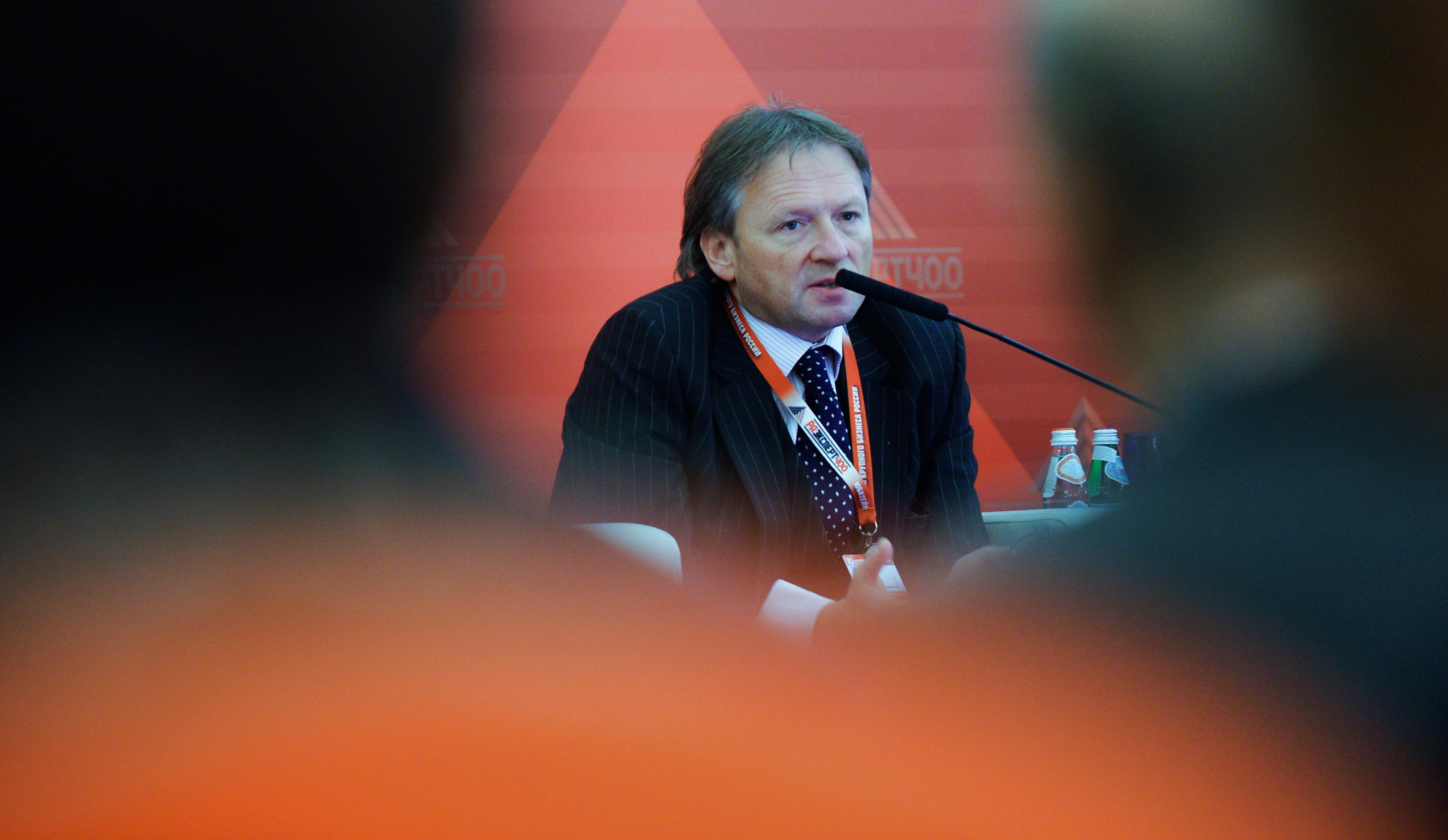 """Boris Titov del Club Stolypin durante il forum annuale """"Expert 400: i costruttori dell'economia russa""""."""