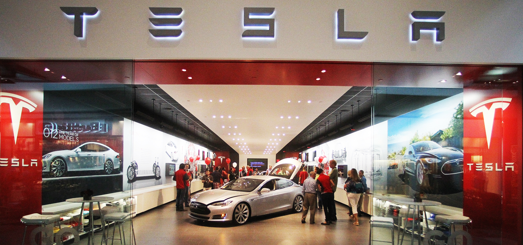 "Possible sites for Tesla salons in Moscow include the business center ""Vremena goda"" in the northeast and ""Atrium"" in the city center."