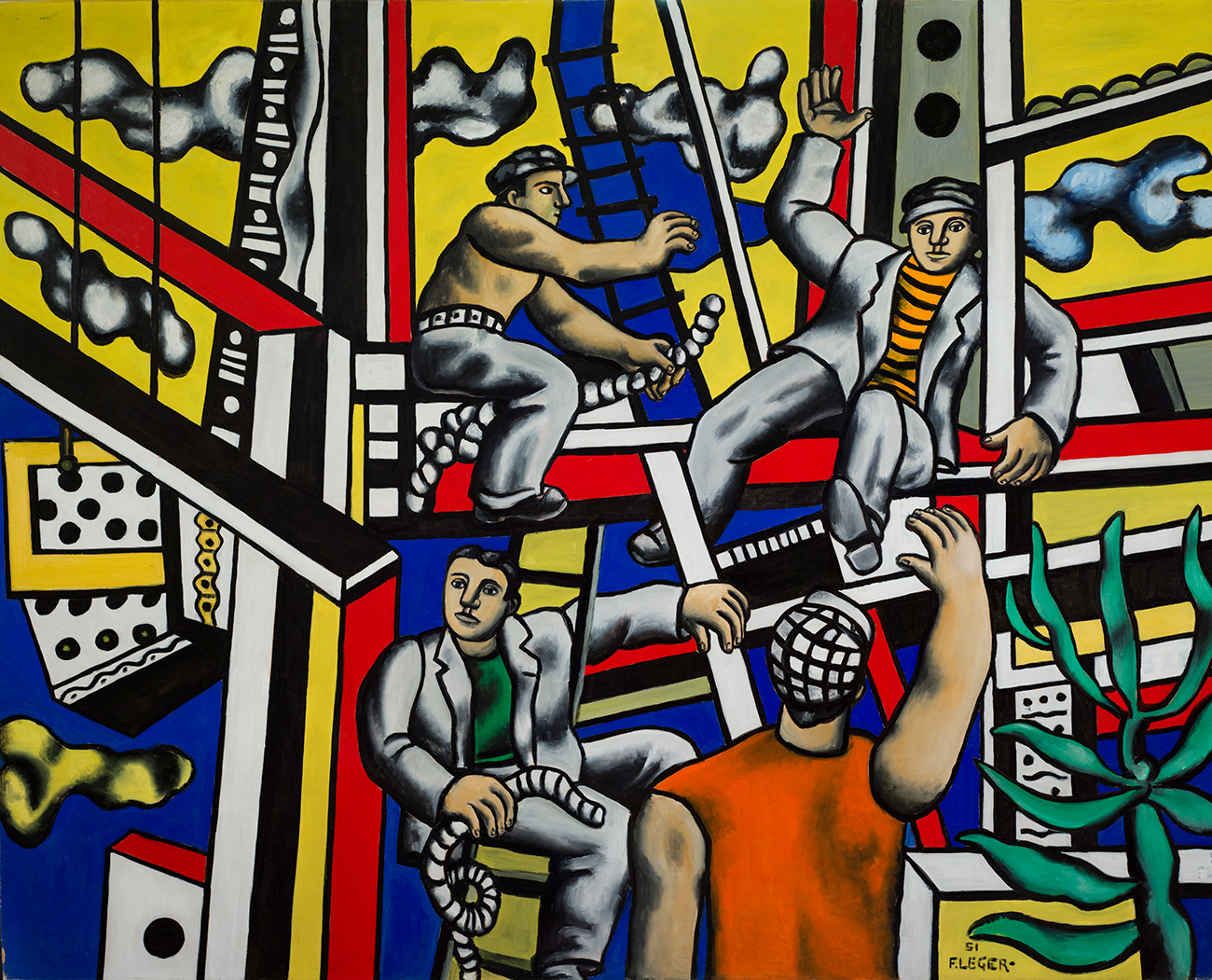 Constructeurs par Fernand Léger (1951).