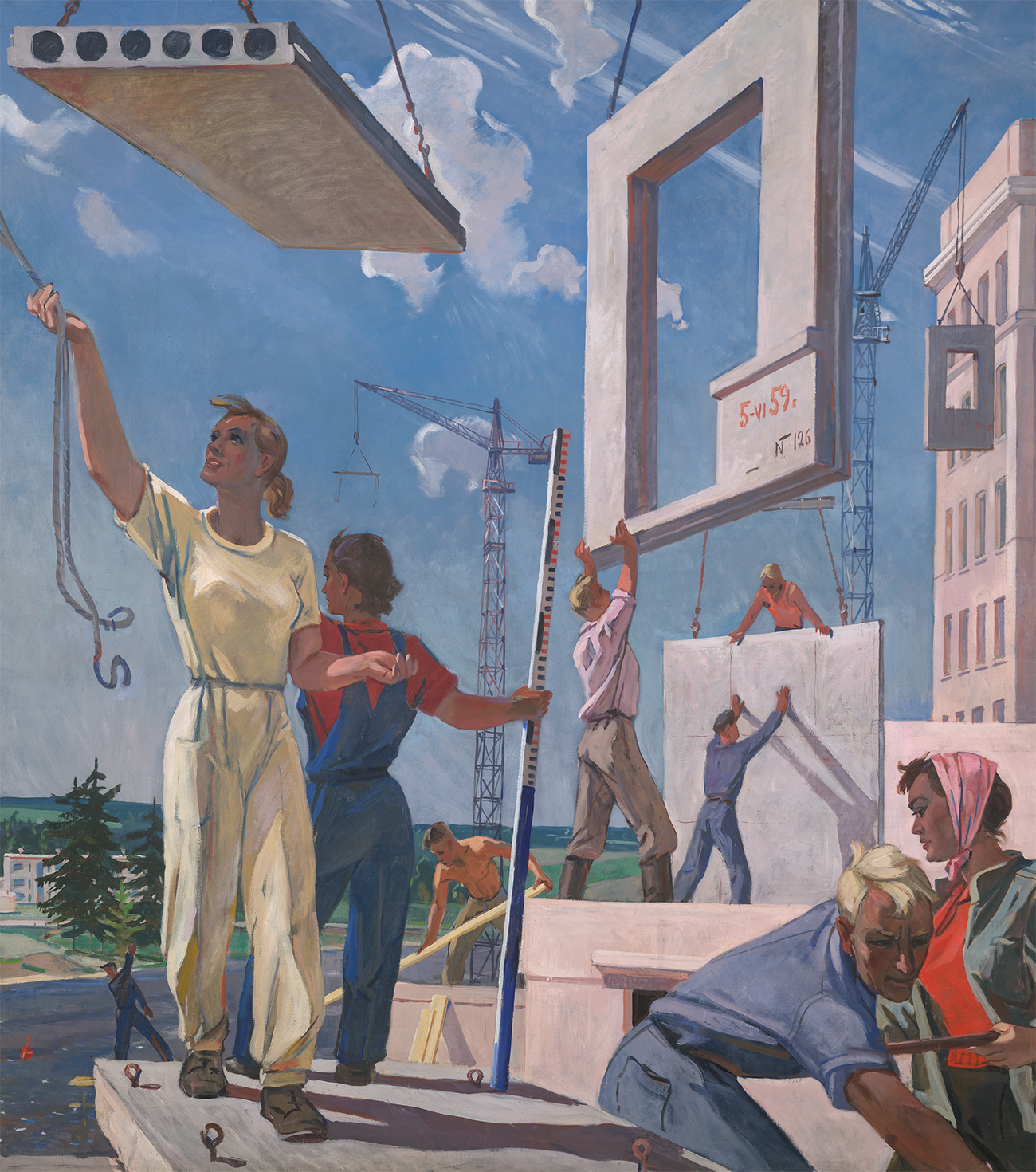 "Aleksandr Deyneka. The sketch of mosaic ""Peace building"".1959–1960 / State Tretyakov Gallery"