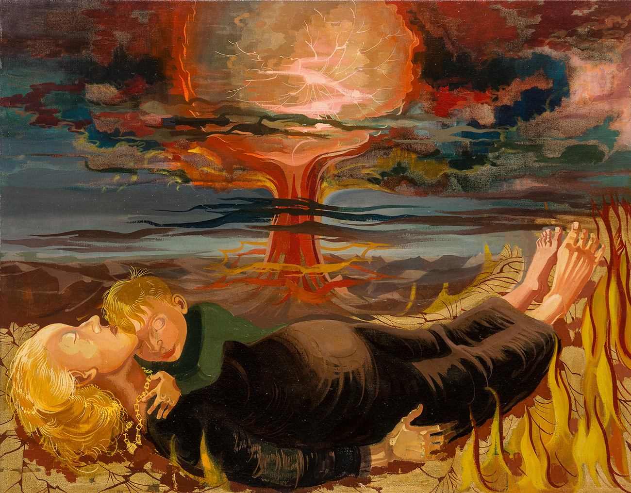 Hans Grundig. Against nuclear death. 1958 / State Hermitage Museum