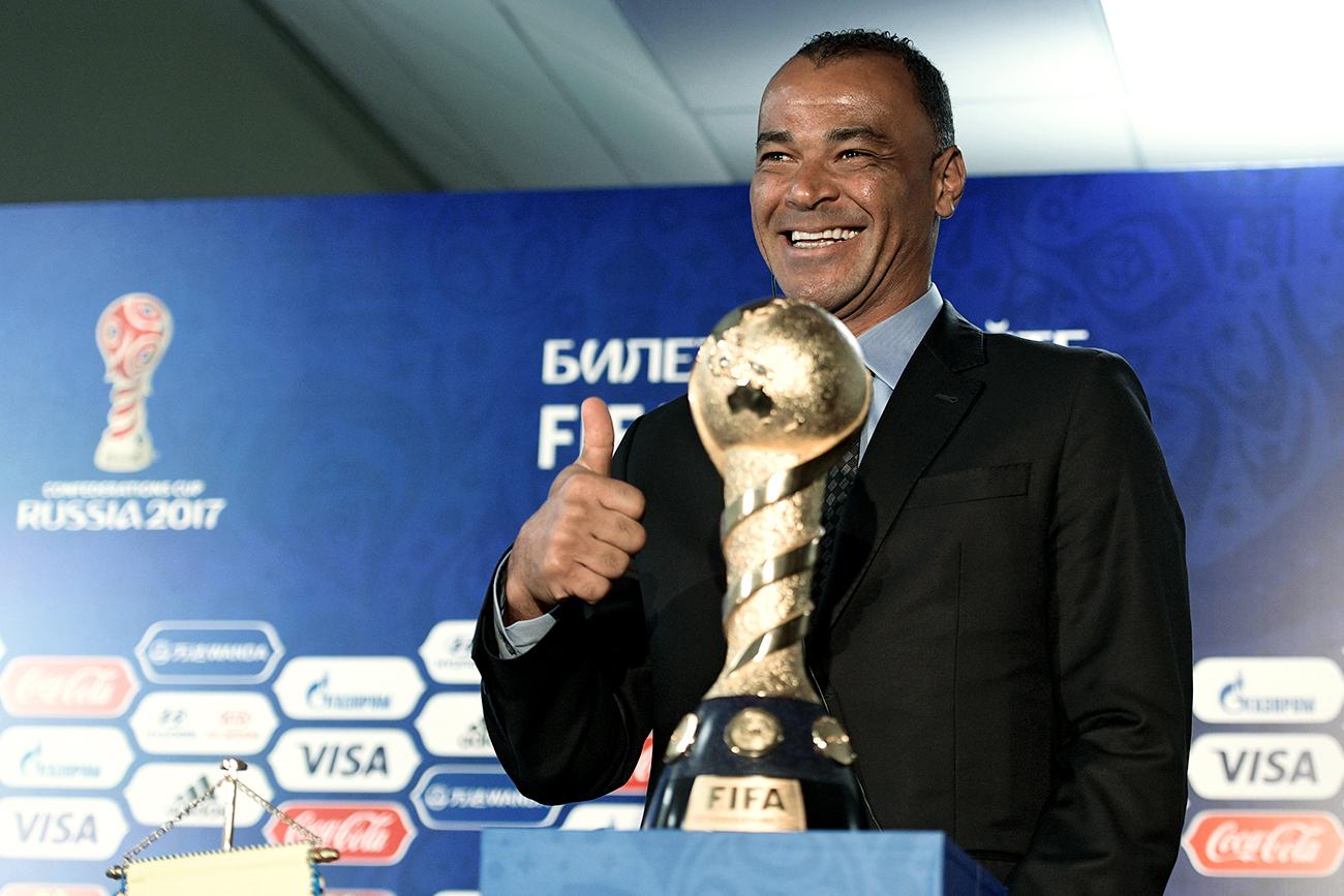 Apesar da presença de Cafu no evento, Brasil não participará da Copa das Confederações 2017