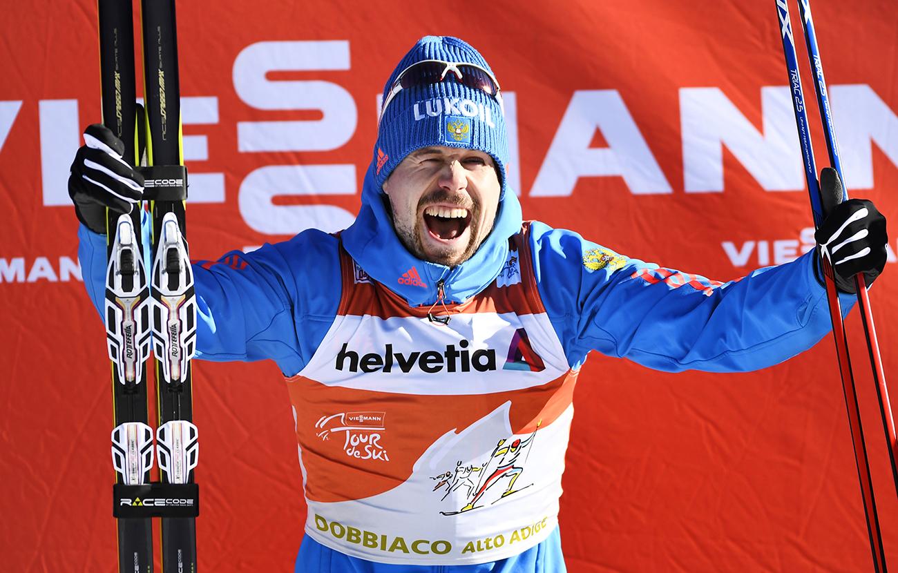 Janvier 2017, Sergey Ustiugov lors du prestigieux Tour de Ski