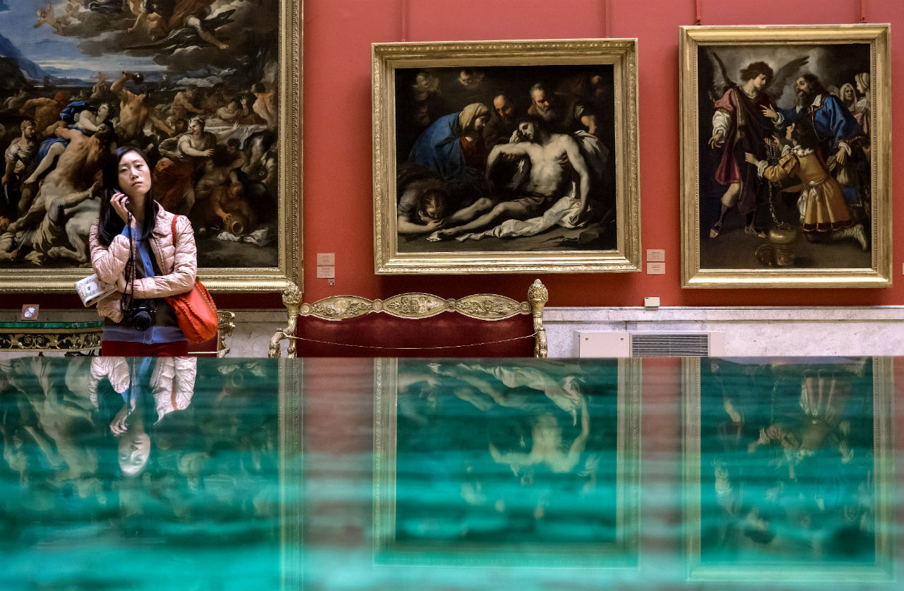 Visitors at the State Hermitage Museum in St.Petersburg.