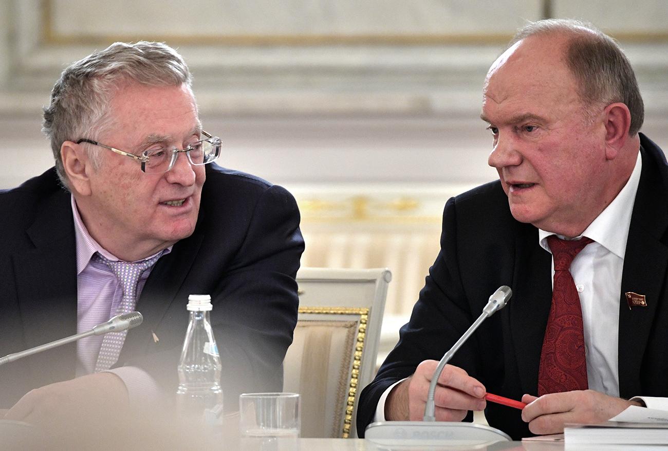 Владимир Жириновски (лево) и Генадиј Зјуганов (десно) / Алексеј Никољски / РИА Новости