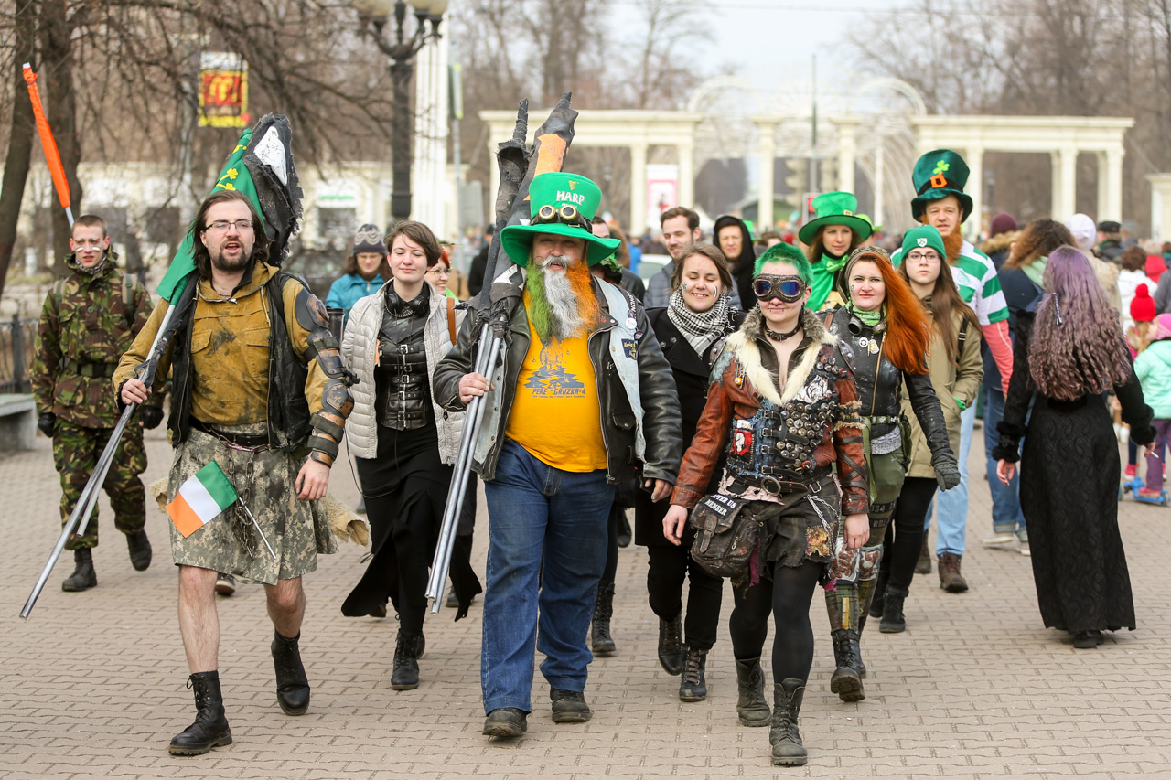 St. Patricks Day in Moscow, March 18, 2017.