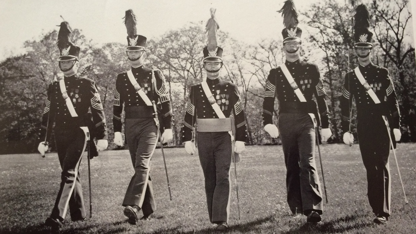Donald Trump, second from left, in the 1964 New York Military Academy yearbook. Source: New York Military Academy