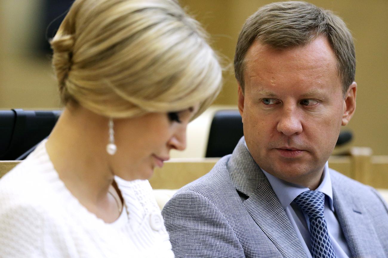 Denis Voronenkov and his wife, Maria Maksakova.
