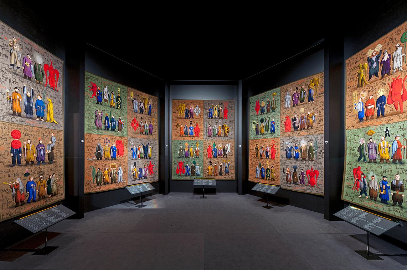"""Installazione """"Alefbet"""" ad Amsterdam, 2012\n"""