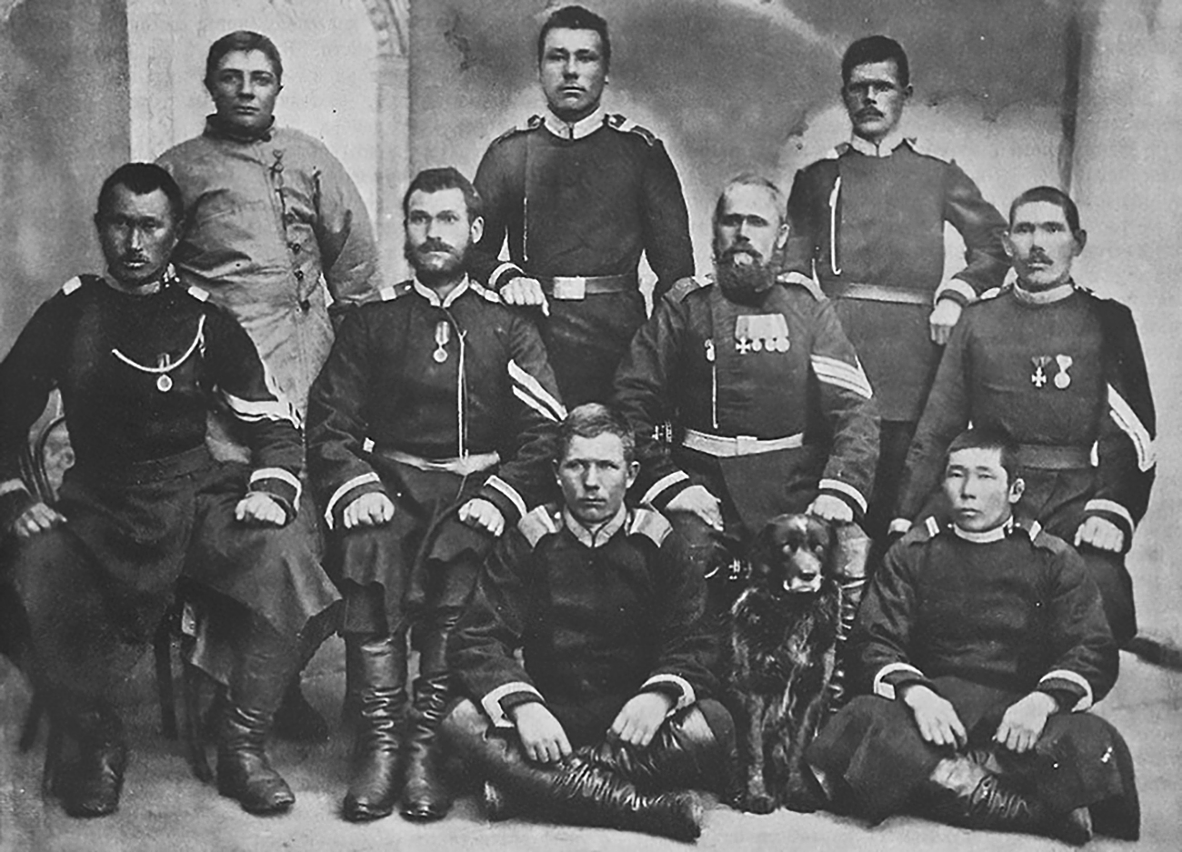 Group of cossacks / Archive Photo