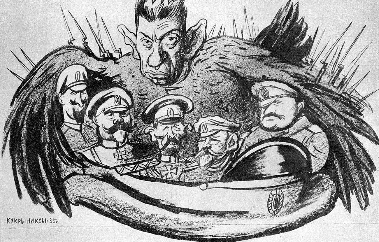Viele vermutete, dass Kerenski in eine Verschwörung zum Umsturz und der Ermordung des russischen Zaren involviert gewesen sei.