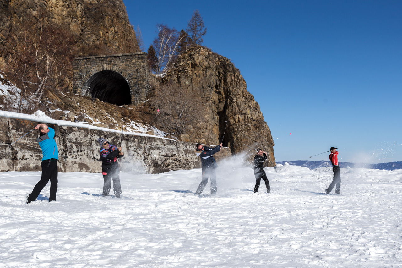 """I'm attracted to winter golf by the combination of the Baikal landscape and the chance to do something new in the open air,"" says Alexander Kochetkov, head of the Russian Golf Federation."